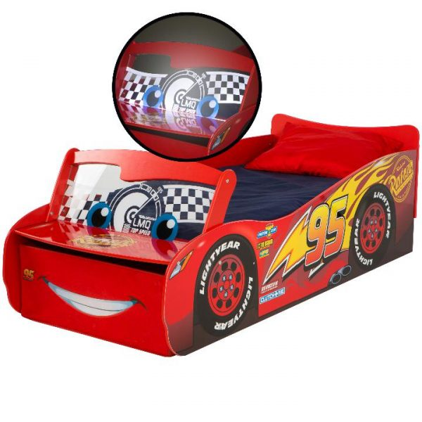 Disney Cars barneseng med LYS